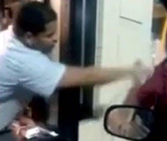 Watch this McDonalds worker throw a drink into a homeless man's face Source: YouTube/Chaves Garcia