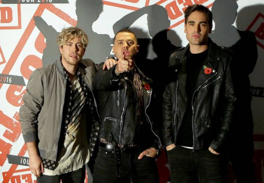 (From the left) James Bourne, Matt Willis and Charlie Simpson during a photocall at the Soho Hotel in London, where they announced they are reforming. PRESS ASSOCIATION Photo. Picture date: Tuesday November 10, 2015. Simpson is to join James Bourne and Matt Willis for a UK and Ireland tour as the trio get back together for the first time since 2005. See PA story SHOWBIZ Busted. Photo credit should read: Steve Parsons/PA Wire