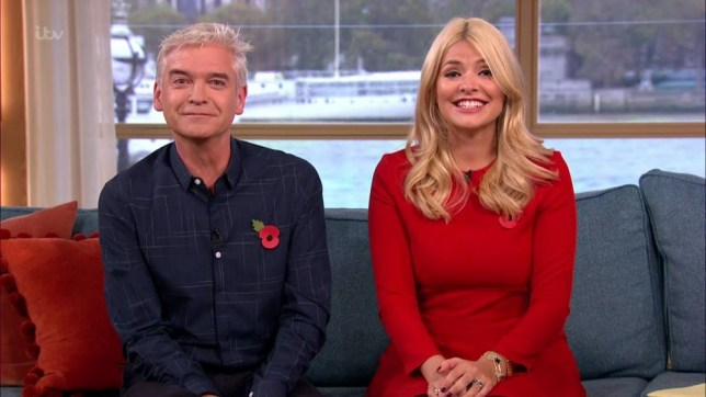 Colin Cloud appears on 'This Morning' to talk about how he has developed near superhuman abilities, leading him to being described as a modern-day, real-life Sherlock Holmes! and performing his magic of Holly and Phillip. Holly Willoughby slips up by asking Colin Cloud 'Can you please just stay and do me?'. Broadcast on ITV1 HD Featuring: Holly Willoughby, Phillip Schofield When: 10 Nov 2015 Credit: Supplied by WENN