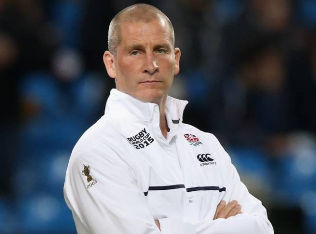 MANCHESTER, ENGLAND - OCTOBER 10: Stuart Lancaster, Head Coach of England looks on prior to the 2015 Rugby World Cup Pool A match between England and Uruguay at Manchester City Stadium on October 10, 2015 in Manchester, United Kingdom. (Photo by David Rogers/Getty Images)