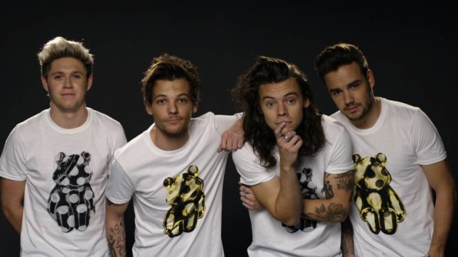 For use in UK, Ireland or Benelux countries only Undated BBC handout photo of (left to right) Niall Horan, Louis Tomlinson, Harry Styles and Liam Payne of One Direction, who are among the stars who will make this year's BBC Children in Need the biggest ever. PRESS ASSOCIATION Photo. Issue date: Thursday November 12, 2015. See PA story SHOWBIZ Children. Photo credit should read: BBC/PA Wire NOTE TO EDITORS: Not for use more than 21 days after issue. You may use this picture without charge only for the purpose of publicising or reporting on current BBC programming, personnel or other BBC output or activity within 21 days of issue. Any use after that time MUST be cleared through BBC Picture Publicity. Please credit the image to the BBC and any named photographer or independent programme maker, as described in the caption.