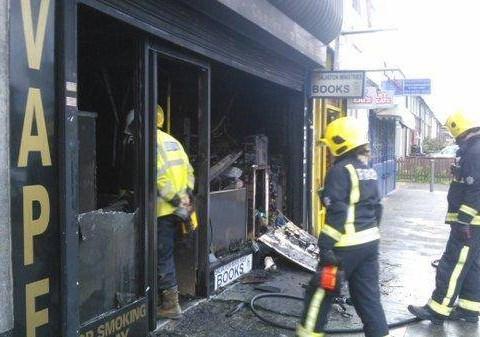 E-cigarette vaping shop goes up in smoke
