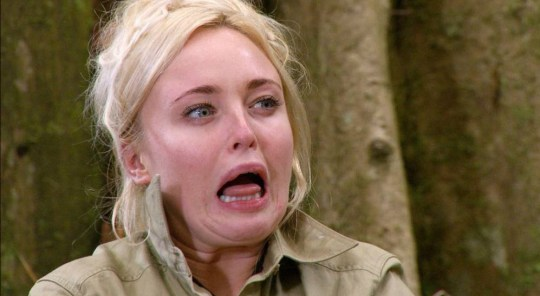***EMBARGO, NOT TO BE USED BEFORE 21:00, 16 Nov 2015 - EDITORIAL USE ONLY - NO MERCHANDISING*** Mandatory Credit: Photo by Nigel Wright/ITV/REX Shutterstock (5371574fr) Bushtucker Trial: Disaster Chef - Jorgie Porter eating 'Spanish Vomlette' 'I'm a Celebrity, Get Me Out Of Here!' TV Programme, Australia - 16 Nov 2015