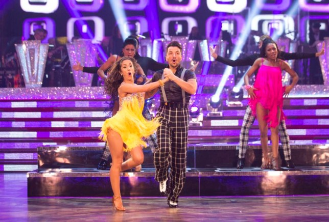For use in UK, Ireland or Benelux countries only  Undated BBC handout photo of Janette Manrara and Peter Andre appearing on the Strictly Come Dancing live show in Blackpool. PRESS ASSOCIATION Photo. Issue date: Saturday November 21, 2015. See PA story SHOWBIZ Strictly. Photo credit should read: Guy Levy/BBC/PA Wire NOTE TO EDITORS: Not for use more than 21 days after issue. You may use this picture without charge only for the purpose of publicising or reporting on current BBC programming, personnel or other BBC output or activity within 21 days of issue. Any use after that time MUST be cleared through BBC Picture Publicity. Please credit the image to the BBC and any named photographer or independent programme maker, as described in the caption.
