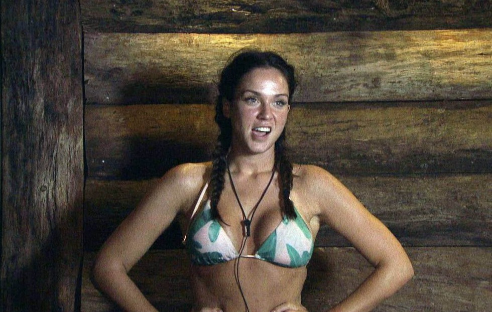 ***EMBARGO, NOT TO BE USED BEFORE 21:00 23rd Nov 2015 - EDITORIAL USE ONLY - NO MERCHANDISING** Mandatory Credit: Photo by ITV/REX Shutterstock (5416765fq) Vicky Pattison in the Bush telegraph 'I'm A Celebrity...Get Me Out Of Here!' TV Show, Australia - 23 Nov 2015