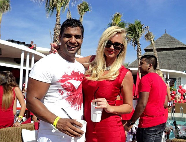 **ALL-ROUND EXCLUSIVE PICTURES FROM SOLARPIX.COM** **SOLARPIX RIGHTS-WORLDWIDE SYNDICATION** **DOUBLE SPACE RATES APPLY** **PICS TO GO WITH EXCLUSIVE COPY FROM GERARD COUZENS* Exclusive collect picture shows British man Devinder Kainth, 40 and his partner Gemma Hawkins at Nikki Beach in 2014. Kainth has been charged and sentenced, for the killing of German man, Sandro Rottman, at The Spinnaker restaurant in Sotogrande. He caught Rottman filming his young daughter at the restaurant back in February 2015 and punched him, leading to his death. Devinder, who was dining with his wife and one of his two daughters, is said to have initially demanded Rottman stop filming his daughter. When the 37-year-old, who was eating alone, didn't, the altercation turned violent. This pic: Devinder Kainth & Gemma Hawkins **STRICTLY NO ONLINE USAGE WITHOUT PRIOR AGREEMENT** JOB REF: 18798 MGB DATE: 13.11.15 **MUST CREDIT SOLARPIX.COM AS CONDITION OF PUBLICATION** **CALL US ON: +34 952 811 768**
