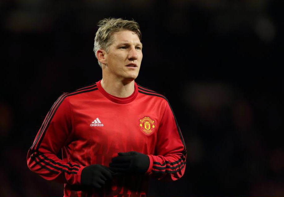 MANCHESTER, ENGLAND - NOVEMBER 25: Bastian Schweinsteiger of Manchester United during the UEFA Champions League match between Manchester United FC and PSV Eindhoven at Old Trafford on November 25, 2015 in Manchester, United Kingdom. (Photo by Matthew Ashton - AMA/Getty Images)
