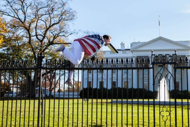 The White House was on lockdown on Thursday, on Thanksgiving Day, after a person jumped the fence, CNN reported without giving any details.  CNN said the jumper was caught straight away but the presidential mansion was still on lockdown.   Read more at Reutershttp://www.reuters.com/article/2015/11/26/us-usa-security-whitehouse-idUSKBN0TF2BV20151126#OuSyZ2fYOjsCuA3h.99