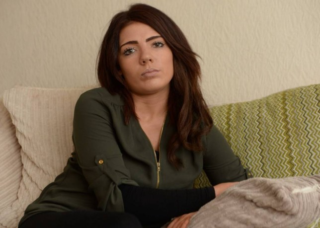 BPM MEDIA: 27/11/2015 Pictured Ella Robinson, 23, from Solihull who is a victim of revenge pornography from her former partner Richard Crabtree. A REVENGE porn victim has told how her ex-boyfriend posted explicit photographs of her on Facebook after she ended their relationship. nElla Robinson, 23, was left humiliated after twisted Richard Crabtree, 34, put naked pictures of her online when their break-up turned sour. nHe also sent her threatening messages before posting the photographs on social media and sending them to one of her former partners. n