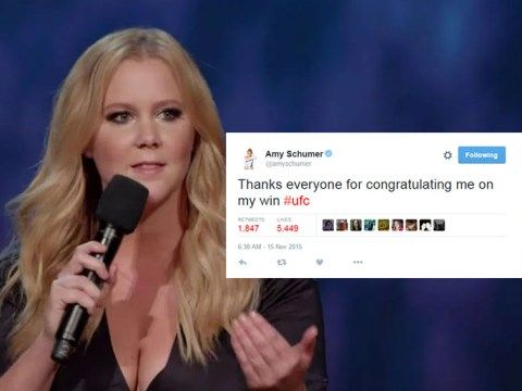 Amy Schumer thanks fans for congratulating her on 'beating' Ronda Rousey