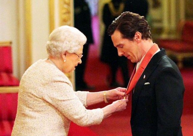 Sherlock's Benedict Cumberbatch back at Buckingham Palace, clothes
