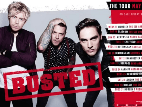 This is how you can join Busted onstage during their Pigs Can Fly tour