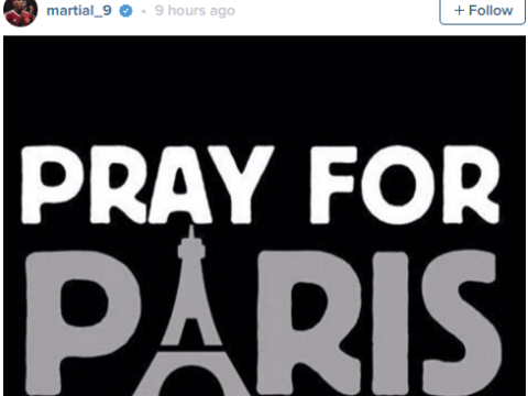 Anthony Martial, Thierry Henry and Paul Pogba lead tributes to victims of Paris attacks