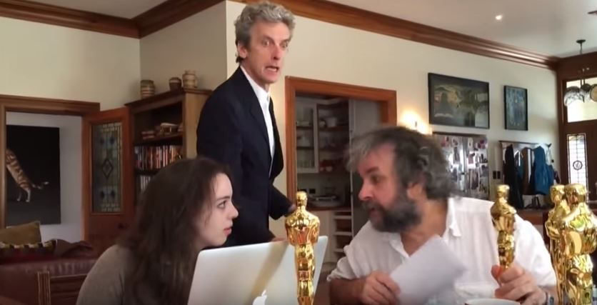 WATCH: Peter Capaldi just tried to force Peter Jackson into directing an episode of Doctor Who