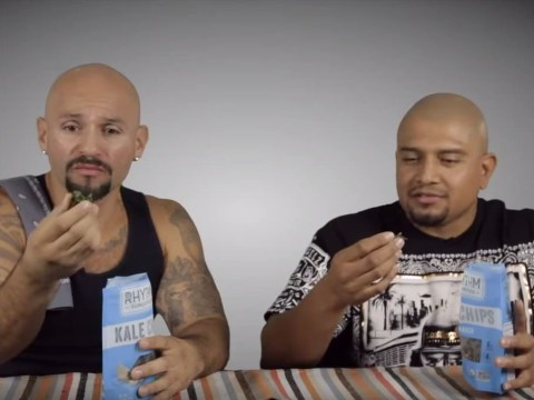 Badass hispanic dudes try vegan food for the first time, get a bit freaked out
