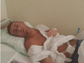 The X Factor's Christopher Maloney worries fans with shocking hospital bed photo