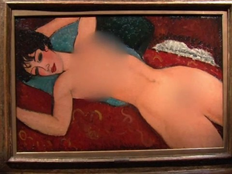 American TV networks felt the need to blur out the breasts on a £113 million painting