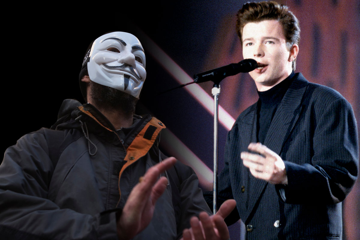 Anonymous rickrolling ISIS Getty