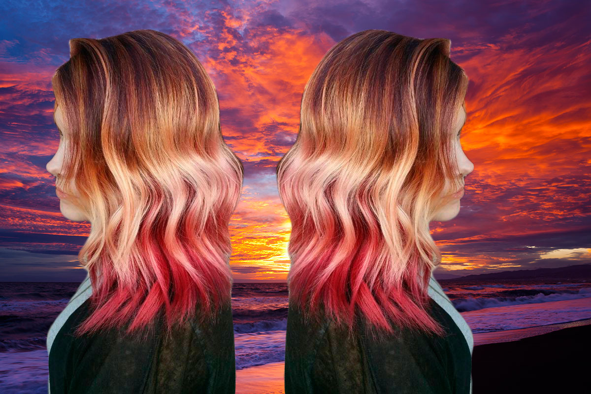 Sunset hair trend