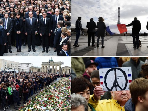Paris attacks: Europe falls silent in solidarity with victims