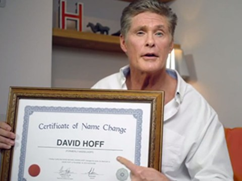 Gasp! Has David Hasselhoff really changed his name to David Hoff?