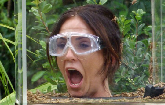 Vicky Pattison doing a Bushtucker Trial on I'm A Celebrity... Get Me Out Of Here