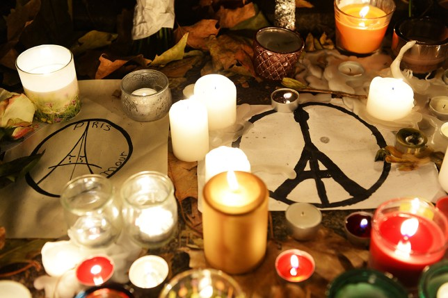 A memorial set up at the Bataclan in Paris last year after the attacks (Picture: AFP/Getty Images)