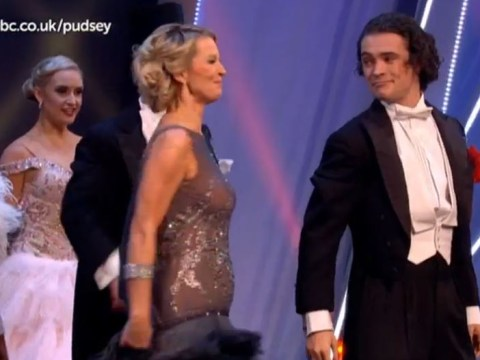 Children In Need 2015: Gillian Taylforth's dress got stuck in her heel during EastEnders' dance number