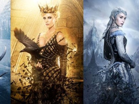 Jessica Chastain, Chris Hemsworth, Emily Blunt and Charlize Theron look fierce in first Huntsman posters
