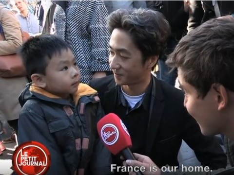 'There's bad guys, daddy': Touching video shows a dad explaining Paris attacks to his little boy