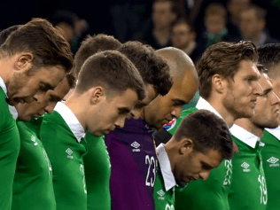 Republic of Ireland fans hit back at Bosnia supporters for failing to respect minute's silence for Paris victims