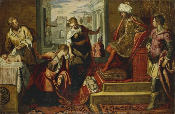 Masked Thieves Steal Masterpieces Worth $16 Million From Verona Museum Jacopo Tintoretto's The Judgement of Solomon/Repubblica.it
