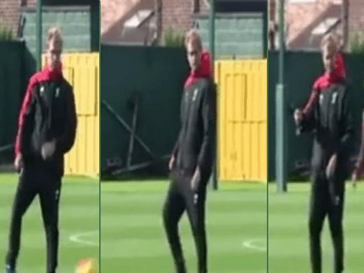 Jurgen Klopp offers Jordon Ibe his glasses after misplaced pass at Liverpool training