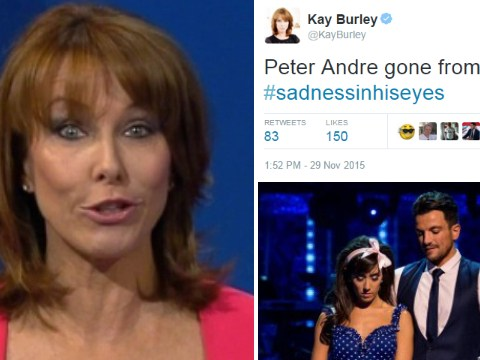 Kay Burley mocks her infamous sadness in his eyes tweet (and disses Peter Andre at the same time)