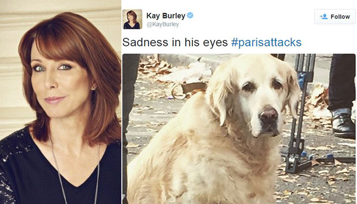 Paris attacks: Kay Burley's tweet about a sad dog didn't exactly get the response she hoped for