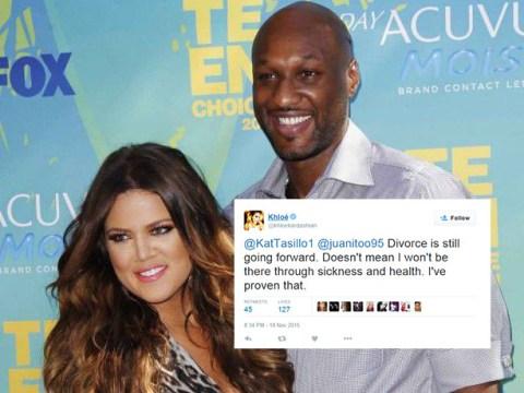 Khloe Kardashian confirms divorce is going ahead during Twitter argument