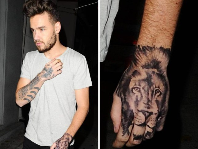One Directions Liam Payne Got A Fake Hand Tattoo Metro News