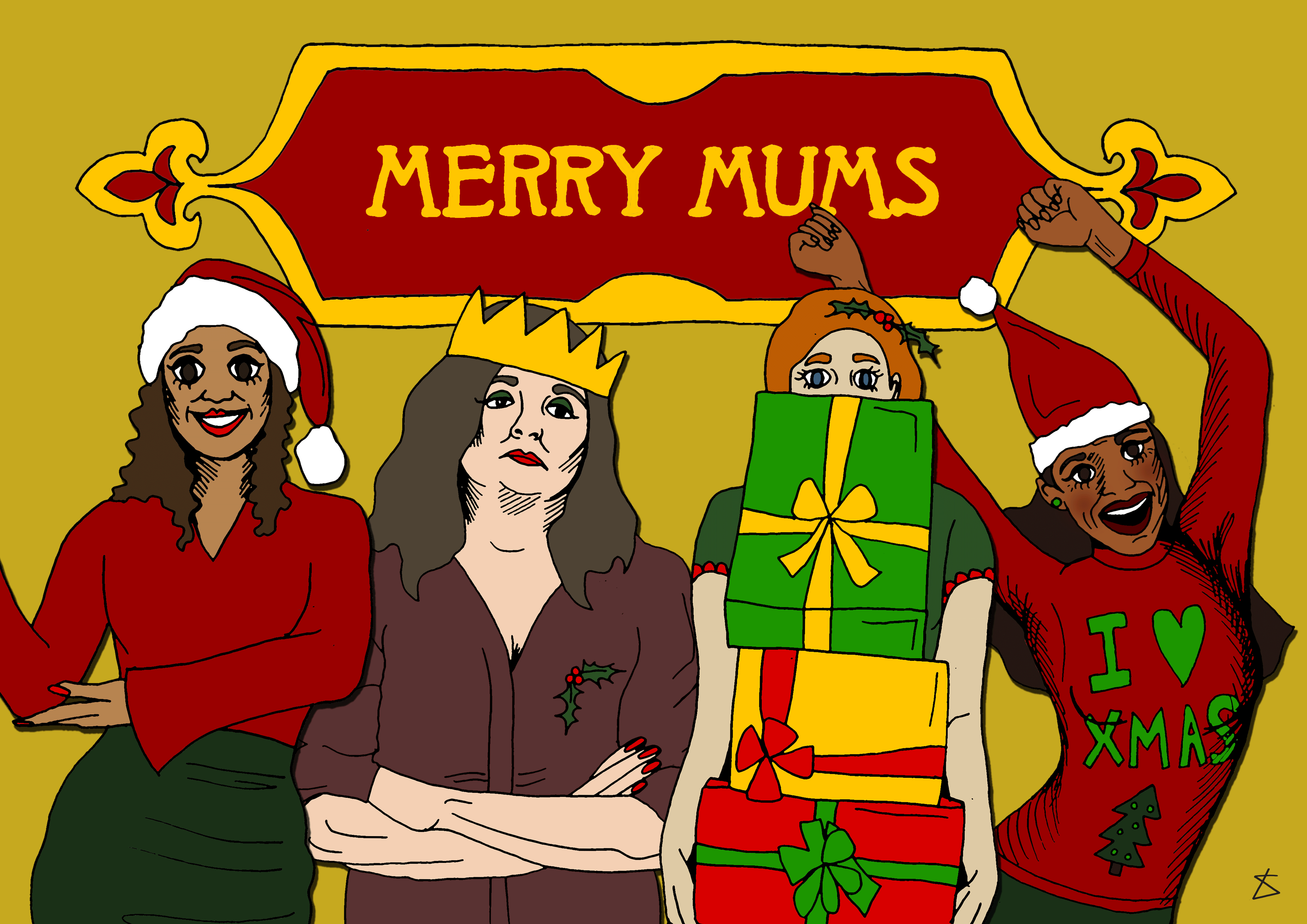 ILLUSTRATION: The 8 types of mum you get in the run up to Christmas Illustration by Liberty Antonia Sadler for Metro