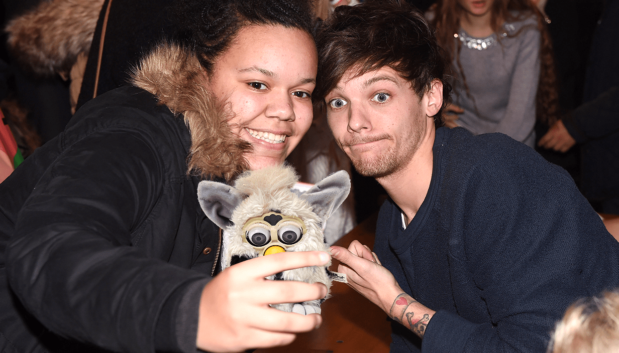 celeb selfies: when their phones are replaced with children's toys CREDIT: METRO/ Myles Goode Pic Source: REX Features