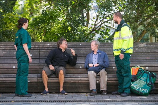 30/09/2015 - Ciaran McCrickard Photography - Comedian Dom Joly has teamed up with the NHS to help raise public awareness of the 111 helpline for when 'it's not quite an emergency'.