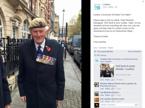 Help war veteran find the SAS beret and army medals he lost at Remembrance service