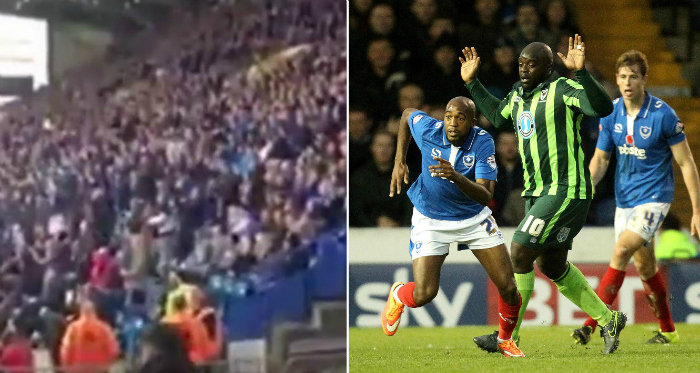 Portsmouth fans chant 'stand up if you hate Isis' at Wimbledon match