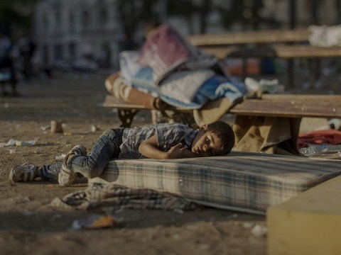 Where the children of war sleep: Heartbreaking images show Syria's lost generation