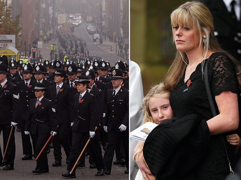 Hundreds of police officers attend funeral of PC Dave Philips at Liverpool Anglican Cathedral