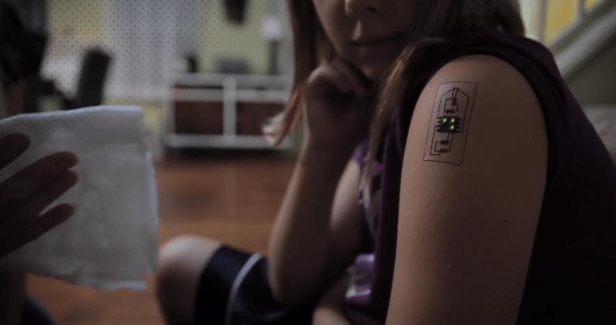 chaotic moon tech tattoo health tracker