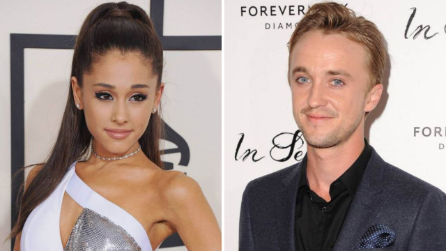 Draco Malfoy himself Tom Felton will definitely be in Ariana Grande's new video if she gets her way