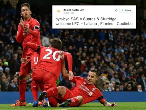 Liverpool fans have nicknamed Adam Lallana, Roberto Firmino and Philippe Coutinho LFC to finally replace SAS