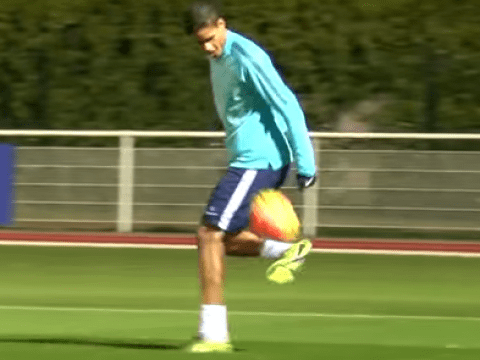 Watch Raphael Varane outrageously repeat his majestic first touch in France training