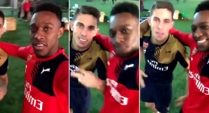 Danny Welbeck brilliantly trolls teammate Gabriel after hijacking Arsenal's Snapchat account
