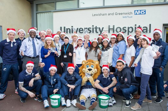 LEWISHAM AND GREENWICH NHS CHOIR FRONT-RUNNER IN CHRISTMAS NO 1 RACE Credit: Facebook/Lewisham NHS Choir